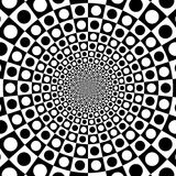 Vector zoom black and white optical circle background Stock Images