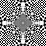 Vector zoom black and white optical circle background Stock Image