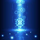 Vector zukünftige Technologie der abstrakten Technik, elektrischen Telekommunikationshintergrund Lizenzfreies Stockbild