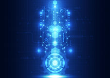 Vector zukünftige Technologie der abstrakten Technik, elektrischen Telekommunikationshintergrund Lizenzfreie Stockbilder