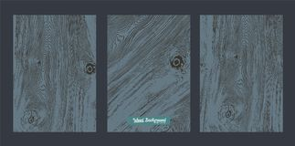 Vector Zwart hout Royalty-vrije Stock Afbeelding