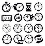 Het pictogram van klokken Stock Foto's