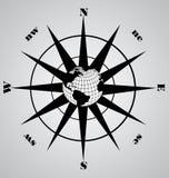 Vector zwart kompas Royalty-vrije Stock Foto's