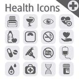 Vector zwart medisch pictogram Royalty-vrije Stock Foto's