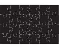 Vector zwart raadselspictogram op witte achtergrond Stock Fotografie