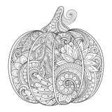 Vector Zwart-wit Decoratieve Punkim met Mooi Patroon Royalty-vrije Stock Fotografie