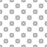 Vector zwart-wit geometrisch patroon met kristallen Royalty-vrije Stock Afbeeldingen
