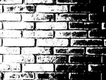 Vector zwart-wit grungeachtergrond Illustratie van bakstenen muurtextuur Van de de Schetszegel van de Grungenood de Bekledingseff stock illustratie