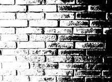 Vector zwart-wit grungeachtergrond Illustratie van bakstenen muurtextuur Van de de Schetszegel van de Grungenood de Bekledingseff royalty-vrije illustratie