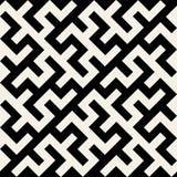 Vector Zwart-wit Maze Ornament Seamless Pattern Royalty-vrije Stock Afbeeldingen