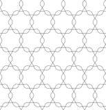 Vector zwart-wit naadloos patroon, die geometrische tegels herhalen Stock Foto's