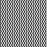 Vector zwart-wit naadloos patroon, eenvoudige golvende lijnen Stock Foto's