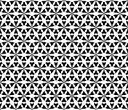 Vector zwart-wit naadloos patroon, geometrische driehoekige vormen Stock Foto