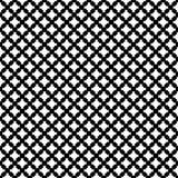 Vector zwart-wit naadloos patroon, het dwars stikken Royalty-vrije Stock Afbeelding