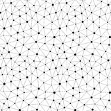 Vector Zwart-wit naadloos patroon Onregelmatige abstracte textuur Stock Afbeelding
