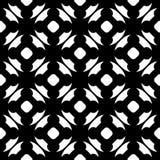 Vector zwart-wit naadloos patroon, overladen textuur Stock Afbeeldingen