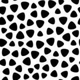 Vector zwart-wit naadloos patroon, zwarte & witte geometrische vlekken Royalty-vrije Stock Foto