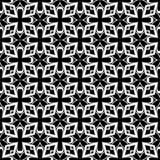 Vector Zwart-wit naadloos patroonontwerp Stock Afbeelding