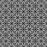 Vector Zwart-wit naadloos patroonontwerp Royalty-vrije Stock Afbeelding