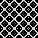 Vector Zwart-wit naadloos patroonontwerp Stock Foto