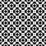 Vector Zwart-wit naadloos patroonontwerp Royalty-vrije Stock Fotografie