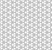 Vector zwart-wit naadloos sier zwart patroon, Stock Foto's