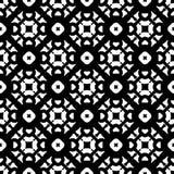 Vector zwart-wit naadloos zwart patroon, Stock Afbeelding
