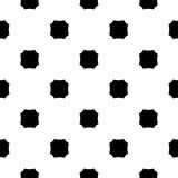 Vector zwart-wit naadloze textuur, achthoekenpatroon Royalty-vrije Stock Foto's