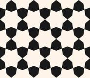 Vector zwart-wit naadloze textuur, geometrisch patroon Stock Foto's