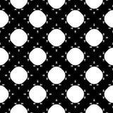 Vector zwart-wit naadloze textuur, punten en kleine driehoeken Stock Foto