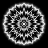 Vector, zwart-wit portaal geïsoleerde mandala, abstractie stock illustratie