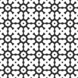 Vector Zwart-witte abstracte achthoek en klaverbladeren naadloze patroon of illustratie stock illustratie