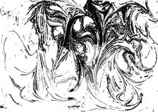Vector zwart-witte marmer abstracte achtergrond Vloeibaar patroon De textuur van Grunge Royalty-vrije Stock Foto's