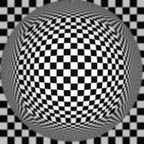 Vector zwart-witte verdraaide de strepen abstracte achtergrond van de baloptische illusie royalty-vrije illustratie