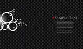 Vector zwarte chroom bedrijfsachtergrond Royalty-vrije Stock Afbeelding