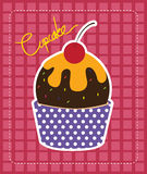 Vector Zwarte Cupcakes-Pictogrammen Stock Foto