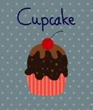 Vector Zwarte Cupcakes-Pictogrammen Royalty-vrije Stock Afbeeldingen