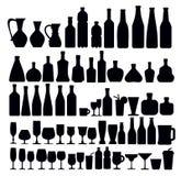 De pictogrammen van de drank en van het glas stock illustratie
