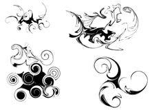 Vector zwarte elementen royalty-vrije illustratie