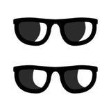 Vector zwarte geplaatste zonnebrilpictogrammen Royalty-vrije Stock Foto