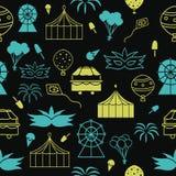 Vector zwarte naadloze het patroonachtergrond van Carnaval stock illustratie
