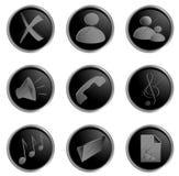 Vector zwarte ronde Webknopen Royalty-vrije Stock Afbeeldingen