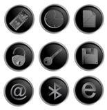 Vector zwarte ronde Webknopen Royalty-vrije Stock Foto's
