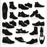 vector zwarte schoenen Royalty-vrije Stock Afbeelding