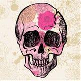 Vector Zwarte Tatoegering Sugar Skull Illustration Royalty-vrije Stock Foto's