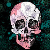 Vector Zwarte Tatoegering Sugar Skull Illustration Royalty-vrije Stock Foto