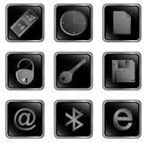 Vector zwarte vierkante Webknoop Royalty-vrije Stock Afbeelding