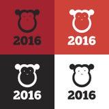 Vectoraap van het jaar van 2016 Stock Fotografie