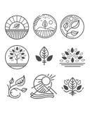 Vectoraardemblemen of symbolen Royalty-vrije Stock Foto's