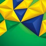 Vectorachtergrond in de vlagconcept van Brazilië. Stock Foto's